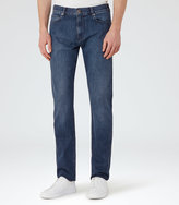 Reiss Reiss Pentle - Mid-wash Jeans In Blue