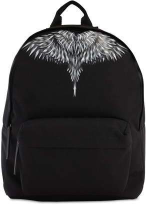 Marcelo Burlon County of Milan Wings Print Tech Canvas Backpack