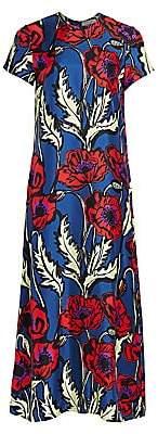 La DoubleJ Women's Edition 20 Big Floral Silk Swing Dress