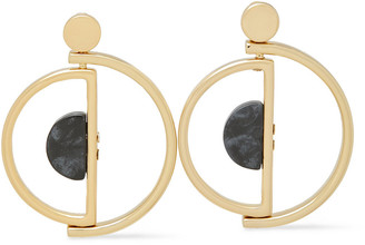 Ben-Amun 24-karat Gold-plated Agate Earrings