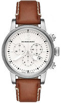Burberry Stainless Steel & Leather Chronograph Watch
