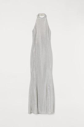 H&M Shimmering halterneck dress