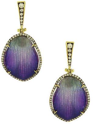 Silvia Furmanovich 18K Diamond & Resin-Coated Orchid Petal Drop Earrings