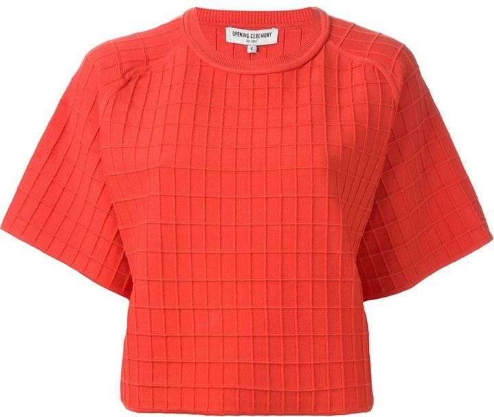Opening Ceremony grid pattern T-shirt