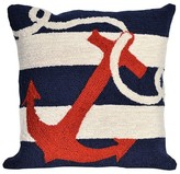 "Liora Manné Anchor Throw Indoor/Outdoor Pillow Navy (18""x18"")"