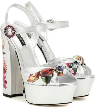Dolce & Gabbana Keira leather plateau pumps