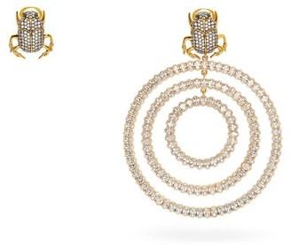 BEGÜM KHAN Mini Me Drip Drop Mismatched Gold-plated Earrings - Crystal