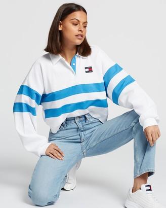 Tommy Jeans Stripe Long Sleeve Polo