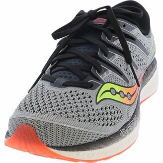 Saucony Men's Triumph ISO 5 Running Shoe Grey/Black 9 W US