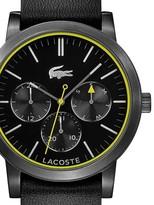 Lacoste Metro Black PVD Steel Mens Watch Quartz Date Day of Week 2010876