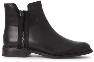 Franco Sarto Black Halford Leather Ankle Boots