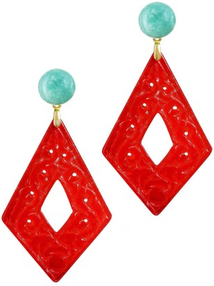 Annaflor The Bold Red Drop Earrings