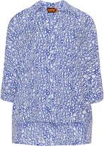 Aprico Plus Size Geometric print blouse