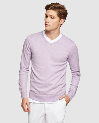 Oxford Cotton Cashmere V-Neck Pullover