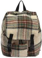 Check Felt Wool Backpack