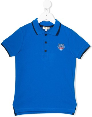 Kenzo Logo Embroidered Polo Shirt