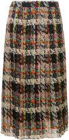 Blumarine plaid pleated skirt