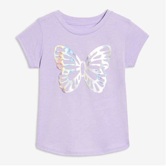 Joe Fresh Toddler Girls' Active Graphic Tee, Lavender (Size 3)