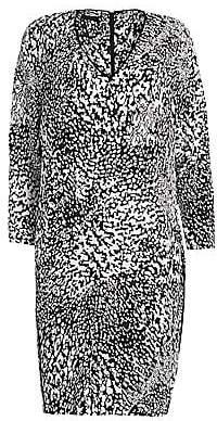 Escada Women's Dixani Abstract Leopard-Print Shift Dress