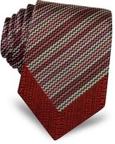 Missoni Micro Zig Zag Woven Silk Narrow Tie