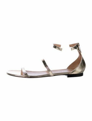 Tamara Mellon Patent Leather Sandals Gold
