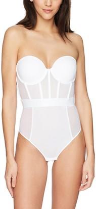 DKNY Women's Sheers Strapless Bodysuit