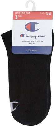 Champion C Logo Low Cut 3 Pack Black 13-3