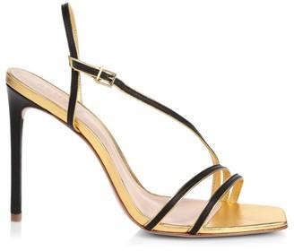 Schutz Luna Slingback Leather Sandals