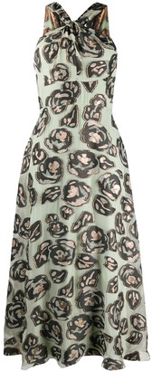 Temperley London Honeymoon metallic print dress