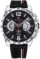 Tommy Hilfiger Men's Decker Black Silicone Strap Watch 46mm, Created for Macy's