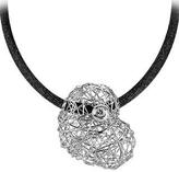 Orlando Orlandini Arianna - 18K White Gold Heart Pendant w/Diamond