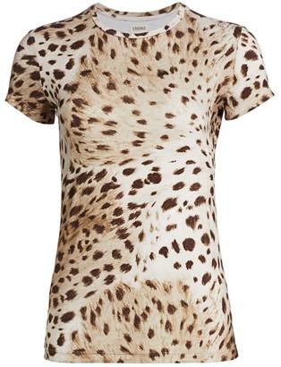 L'Agence Ressi Animal Print T-Shirt