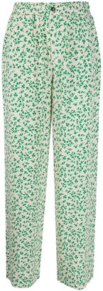 Ganni Floral Print Loose Trousers