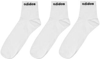adidas 3 Pack Ankle Socks Mens