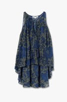 Derek Lam Tie Detail Floral Shirt