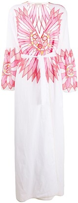 Emilio Pucci Embroidered Wrap Maxi Dress