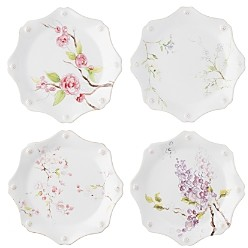 Juliska Berry & Thread Floral Sketch Dessert/Salad Plates, Set of 4