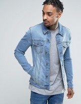 Asos Super Skinny Denim Jacket in Light Wash