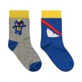 Fendi FendiBoys Blue & Grey Monster Socks Set (2 Pack)