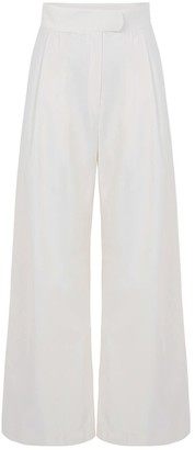 A Line Clothing Pearl Wide Trousers With Pleats