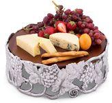 Arthur Court Grape Aluminum Cheese Pedestal