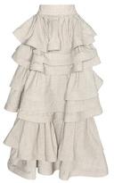 Rosie Assoulin Ruffled Wool Skirt
