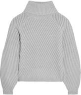 Iris and Ink Antonia ribbed merino wool turtleneck sweater