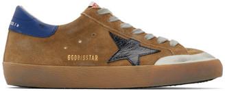 Golden Goose Brown and Black Suede Superstar Sneakers