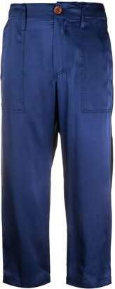 Jejia Two-Toned Cropped Trousers