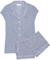Three J NYC Olivia Polka-dot Cotton-poplin Pajama Set - x small