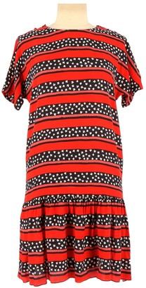 Sonia Rykiel Red Cotton Dress for Women