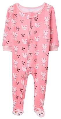 Koala Baby Cheetah Kitten One-Piece Pajama (Baby Girls)