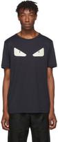 Fendi Navy Leather Bag Bugs T-Shirt