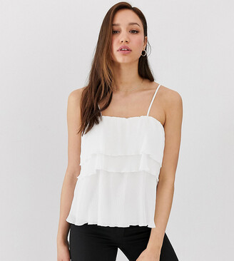 Berenice Y.A.S Tall layered cami top-White